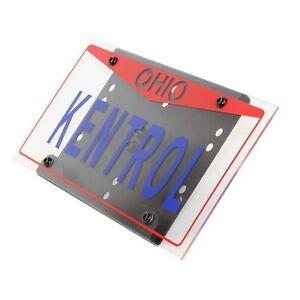 Kentrol 80706 Black Shackle Mounted License Plate Bracket for Wrangler YJ/TJ/JK