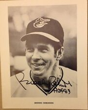 Baltimore Orioles Brooks Robinson Signed 8x10 Black & White photo Auto