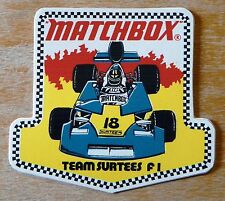 MATCHBOX Équipe SURTEES la formule 1 motorsport sticker / Autocollant