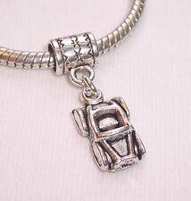 Car Automobile Convertible Dangle Bead for Silver European Style Charm Bracelets
