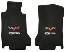 LLOYD Velourtex™ Ebony FLOOR MATS C6 and Z06 505 HP logos 2006-2013 Corvette Z06
