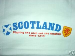SCOTLAND T-SHIRT  RIPPING  FOR THE TARTAN ARMY  MEDIUM