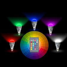 85-265V 9W E27 LED RGB Magic Spotlight Bulb Lamp 16 Color Changing + IR Control