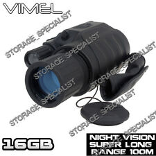 Night Vision Hunting Camera Goggles Binocular Monocular Digital NV Security 16GB