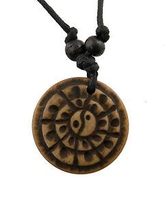 Collana Buddista-Ciondolo Tribal-Yin yang-GAR4-4899