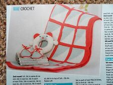 BABY CROCHET Blanket, Bootees & Toy  ~  Crochet Pattern ~ NEW