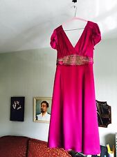 "STUNNING MONSOON COLLECTION LTD EDITION PURE SILK ""MIRIAM"" COCKTAIL DRESS SZ 10"