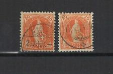 SUISSE Helvetia 1882-1904 2 timbres oblitérés  /T3441