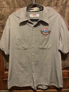US LEGEND CARS ~ 3XL Mechanic Uniform Work S/SLV Button Up Shirt NASCAR Distress