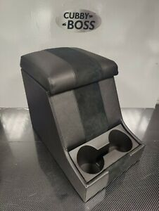 Land Rover Defender 90/110 Cubby Box, Black Suede Centre & Black Stitching