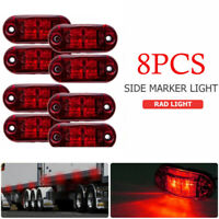 8/10PCS For Truck Trailer Car Indicator Lamp Red Side Marker Light LED 12V 24V