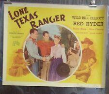 Lone Texas Ranger Original Single Sided Movie Poster B 22x28 Wild Bill Elliott