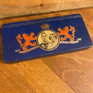 Vintage Royal 1937 King George Coronation Tin - Royal Memorabilia