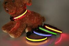 LED Dog Collar USB Rechargeable Pet Nylon Adjustable Flashing Safety Cat Collars