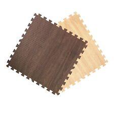 wood grain interlocking foam puzzle mat tiles puzzle flooring dark walnut oak