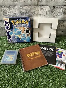 POKEMON BLUE.  NINTENDO GAMEBOY GAME.  BOXED WITH MANUAL.  NICE CONDITION!