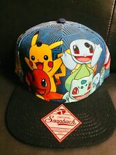 POKEMON characters all over print snapback hat