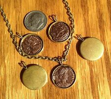 Ancient Roman Coin Necklace Pendant Jewelry  Cabachon Locket Base Roman Coin