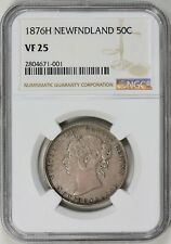 Newfoundland 1876-H Silver 50 Cents NGC VF-25
