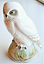 Vintage Crown Staffordshire Snowy Owl Signed Linley Adams 21cm tall