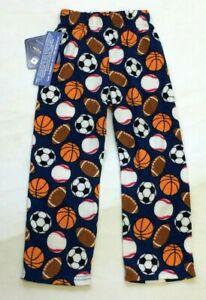 MacHenry Originals Boys Navy Sports Balls Baseball Micro Fleece Pajama Pants