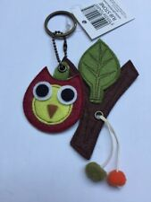 Sass & Belle Owl On The Brunch Keyring Owl  Bag Charm Small Felt Owl Gift
