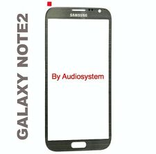 VETRO VETRINO per SAMSUNG GALAXY NOTE 2 N7100 NO DISPLAY NO TOUCHSCREEN GRIGIO