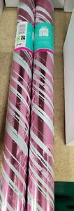 2 x 1.5m Gift Wrapping Paper Roll Female Happy Birthday PINK Nwl