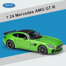 Welly 1:24 Mercedes Benz AMG GT-R GTR Diecast Model Racing Car Collection W/Case