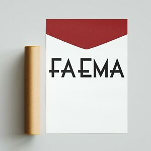 Faema Cycling Team Jersey Poster Print A4 A3 A2 Wall Art Tour de France