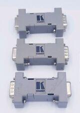 3x Kramer 9 Pin Male To 9 Pin Female Gender Changer Converter Adaptor Connector