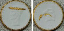 1922 Participation Medal. White w/ Gold Meissen Porcelain - German Combat Games