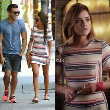 Topshop Celebrity Bloggers Stripe A-Line Summer Dress - Size 14
