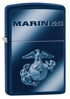 Zippo U.S. Marine Corps Logo Navy Matte Windproof Pocket Lighter, 49151