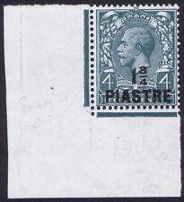 British Levant 1913 SG38a 1 3/4pi on 4d Thin Pointed 4 Variety Corner Marginal