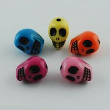 25 x Plastic Dead Skull Beads Mixed Color 13x10mm with Hole(MACR-S778-M)