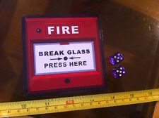 Fire Break Glass Here Fake Funny Joke Sticker Faux Prank Party Building Design
