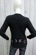 JOHN RICHMOND Donna Taglia M Maglione Lana Sweater Pullover Maglietta Pull