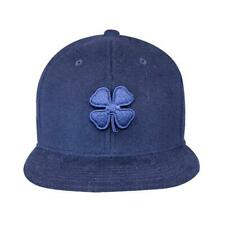 Black Clover Mens Cashmere Luck Flat Bill Hat Adjustable Cap - Midnight Navy