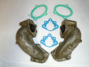 Triumph STAG ** CARB ELBOW ** Pair 156415 / 6 - GOOD Used parts  - Inc Gaskets.