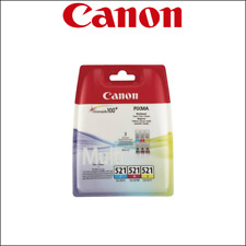 CANON CLI 521 - Pack cartouches d'encre Cyan, Margenta, yellow - 100% original