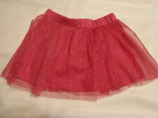Okie Dokie 18-24 Month Pink Elastic Waist Skirt NWT Polyester Sparkle Dot Shell