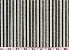 Black Ticking Stripe by Waverly Drapery Upholstery Fabric Timeless Ticking Black