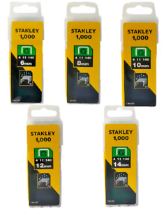 Stanley Type G Staples 6mm 8mm 10mm 12mm 14mm Tools DIY Upholstery