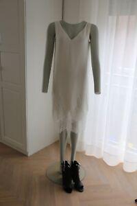 Massimo Dutti Kleid Sommer Weiß Spitze Gr 40