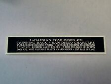 LaDainian Tomlinson Chargers Engraved Nameplate For A Football Case 1.25 X 6