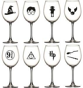 Harry Potter Themed Wine/Gin Glass Vinyl Sticker Pack