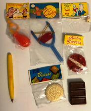 Dimestore  Plastic Toys Lot of 7 Vintage Gag, Squirting, Play 1960's Hong Kong
