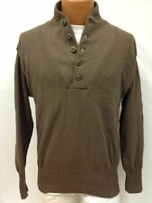 Military Issued Brown 5-Button Sweater-New-M