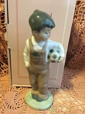 LLADRO NAO 1068 Boy with a Soccerball Retired Mint Condition! Original Box!